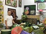 Les feuilles de lotus, une source d'inspiration infinie  pour un jeune peintre