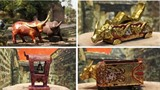 La collection unique de statues de buffles du peintre-artisan Nguyên Tân Phat