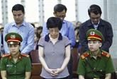 Châu Thi Thu Nga condamnée à la réclusion à perpétuité