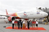 Vietjet Thaïlande lance son nouvel avion portant le logo The Amazing Thailand Tourism Year 2018