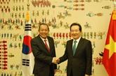 Le vice-Premier ministre Truong Hoa Binh rencontre le président de lAssemblée nationale sud-coréenne