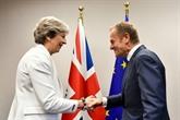 Brexit : Theresa May à Bruxelles, lUE espère des avancées