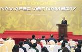 Le succès de lAPEC 2017 crée un nouvel élan pour le Vietnam