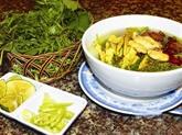 Lestuaire des soupes de nouilles de riz