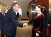 La présidente de lAN vietnamienne rencontre le président de la Cour suprême dAustralie occidentale