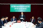 Le PM travaille avec des responsables de l'Institut de mathématiques du Vietnam
