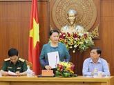 La présidente de lAssemblée nationale se rend dans la province de Khanh Hoa