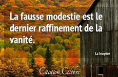 Modestie - Vanité - Orgueil