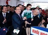 Le secrétaire général du PCV adresse ses vœux du Têt à Hung Yên