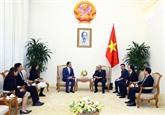 Le Premier ministre reçoit le président de la Fédération manufacturière de Singapour