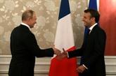 EmmanuelMacron reçoit Vladimir Poutine avant le Sommet du G7