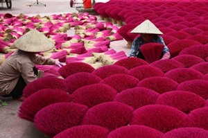 À Hanoï, au village de lencens parfumé
