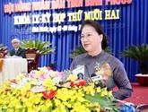 La présidente de l'AN exhorte Binh Phuoc à promouvoir ses atouts