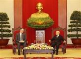 Le secrétaire général du Parti reçoit l'ambassadeur des États-Unis à Hanoï