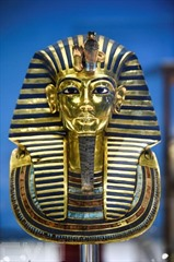 Le masque d'or du pharaon Toutankhamon au musée du Caire. Photo: AFP/VNA/CVN