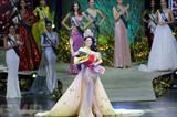 Nguyên Phuong Khanh, de nationalité vietnamienne, Miss Terre (Miss Earth) 2018. Photo: Xinhua/VNA/CVN