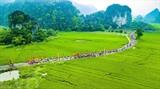 La fête du temple de Thai Vi pour rendre hommage aux rois Trân, tenue le 30 avril dans la commune de Ninh Hai, district de Hoa Lu, province de Ninh Binh (Nord). Photo: Minh Duc/VNA/CVN