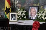 Une cérémonie a eu lieu au siège des Nations unies à New York mercredi 22 août pour honorer la mémoire de son ex-secrétaire général, Kofi Annan, décédé récemment.<br /> Photo: Xinhua/VNA/CVN
