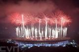 Feux d'artifice lors de la cérémonie de clôture de la 18<sup>e</sup> édition des Jeux asiatiques tenue le 2 septembre en Indonésie. Photo: Xinhua/VNA/CVN
