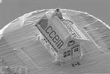 La plus petite maison en pain d'épice du monde réalisée par un chercheur canadien de l'université McMaster à Hamilton. Photo : AFP/VNA/CVN<br />