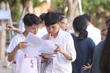 <em>Des élèves consultent les solutions lors de l'examen du bac 2019 dans la province de Nghê An (Centre). </em>Photo: VNA/CVN