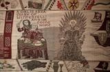 Une immense tapisserie conçue pour rendre hommage à la série <em>Game of Thrones</em>, le 5 juillet 2019 dans un musée de Belfast, en Irlande du Nord. Photo: AFP/VNA/CVN<br /> <br />