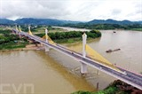 Le pont Tinh Huc enjambant la rivière Lô, dans la province de Tuyên Quang au Nord, est inauguré le 2 octobre. Photo : VNA/CVN<br />