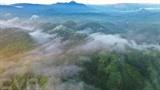 La rosée flotte sur les montagnes de Pa Nang à Quang Tri (Centre). Photo : VNA/CVN