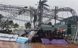 La tempête Molave détruit plusieurs ouvrages publics à Dà Nang, le 28 octobre. Photo : Van Dung/VNA/CVN