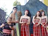 Un numéro artistique à l'occasion du II<sup>e</sup> Congrès national des ethnies minoritaires du Vietnam. Photo : VNA/CVN