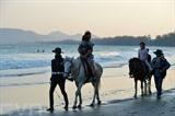 La plage ouverte de Hua Hin attire des foules de voyageurs. Photo : Xinhua/VNA/CVN