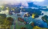 La baie de Lan Ha, à l'est de l'île de Cat Bà, dans la ville de Hai Phong (Nord). Photo : VNA/CVN
