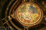 La coupole du Palais Garnier, à Paris. Photo : AFP/VNA/CVN