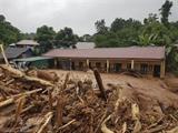 Les pluies torrentielles ont provoqué des inondations dans le district de Nâm Pô, province de Diên Biên où l'école primaire de Nâm Nhu a été dévastée par les crues. Photo : Xuân Tu/VNA/CVN