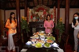 Les plats traditionnels du Nouvel An lunaire présentés au Têt Viêt 2021. Photo : VNA/CVN<br />