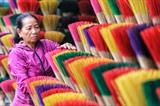 Le village de Thuy Xuân, l'un des lieux de production d'encens les plus célèbres de la province de Thua Thiên-Huê au Centre: Photo : VNA/CVN