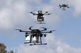 Des drones de livraisons, près de la ville de Hadera, en Israël. Photo : AFP/VNA/CVN