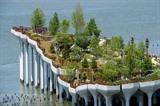 Le parc aérien Little Island au-dessus du fleuve Hudson, le 21 mai 2021 à New York. Photo : AFP/VNA/CVN<br />