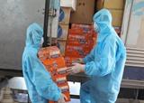 Don de produits de première nécessité aux habitants de la province de Bac Giang pour lutter contre la pandémie de COVID-19. Photo : VNA/CVN<br />