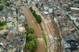 Scène de destruction à Verviers, en Belgique, le 17 juillet. Photo : Xinhua/VNA/CVN