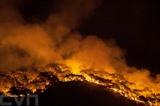 De la fumée s'échappe d'un incendie de forêt à Mugla, en Turquie, le 1<sup>er</sup> août. Photo : AFP/VNA/CVN